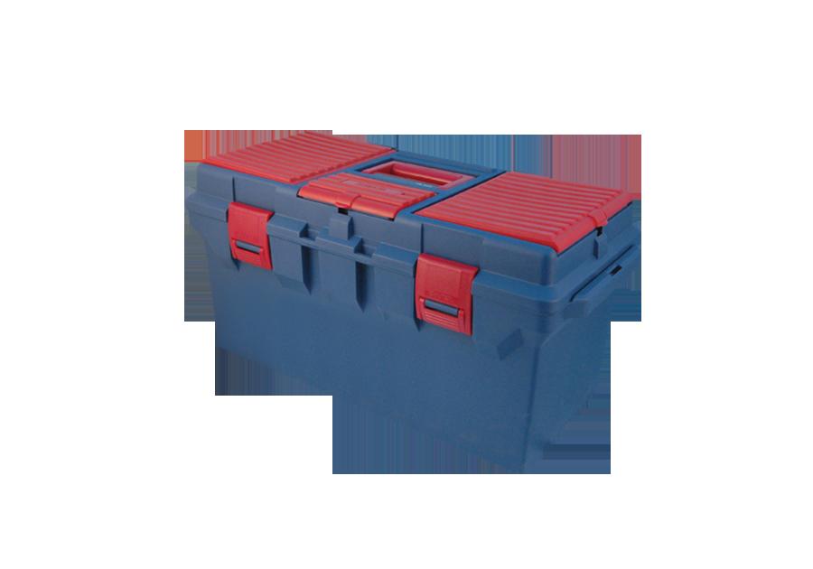大藍色塑膠手提工具箱  KING TONY  87404, 永安實業工具購物網