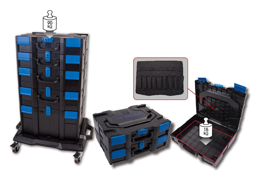 堆疊工具箱 (456x372x262mm)  KING TONY  87405-3, 永安實業工具購物網