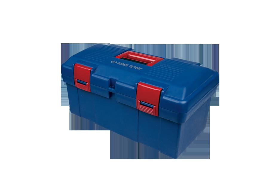 小藍色塑膠手提工具箱  KING TONY  87407, 永安實業工具購物網