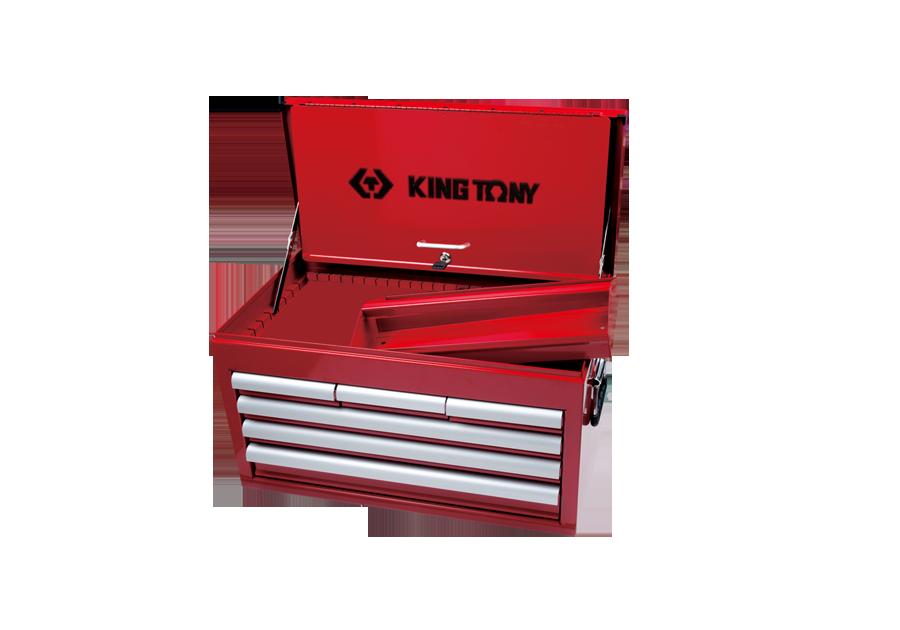 六抽屜上層工具箱 鋼珠軌道  KING TONY  87411-6B, 永安實業工具購物網