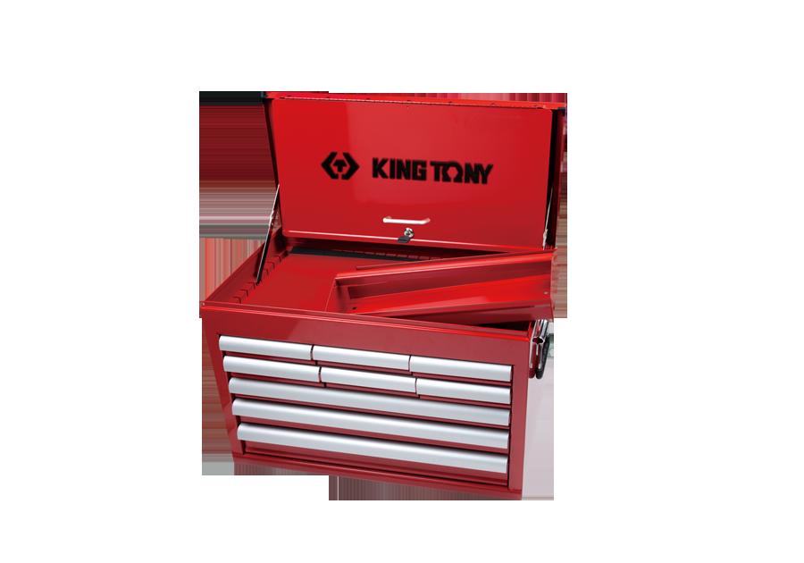九抽屜上層工具箱 鋼珠軌道  KING TONY  87411-9B, 永安實業工具購物網