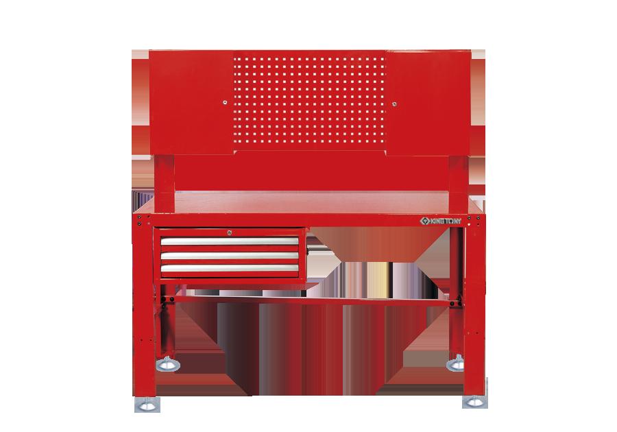工作桌含3抽屜工具箱與2個壁掛箱  KING TONY  87502, 永安實業工具購物網