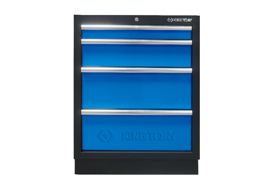 4 Drawers Cabinet (black & blue)  KING TONY  87D11-04A-KB