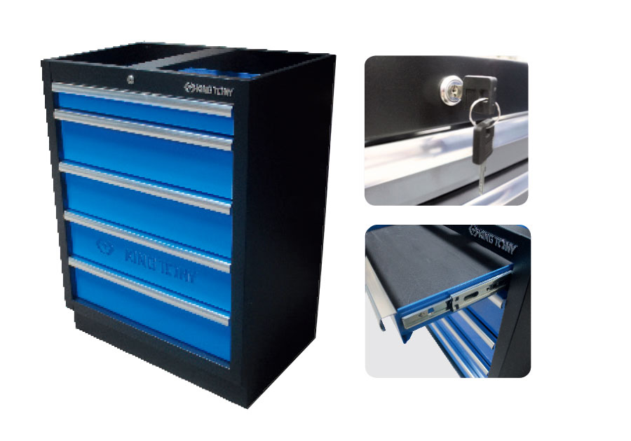 5 Drawers Cabinet (black & blue)  KING TONY  87D11-05A-KB