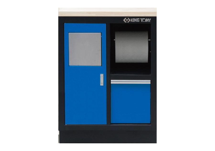紙巾架+垃圾桶(黑藍)  KING TONY  87D11-11A-KB, 永安實業工具購物網