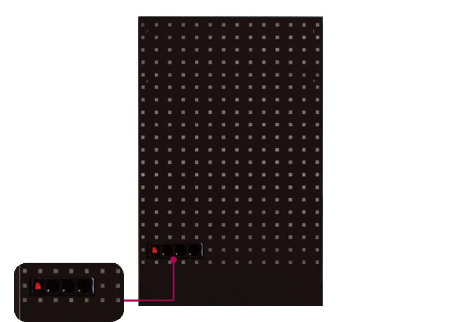 系統櫃用洞洞板含電源插座(黑)  KING TONY  87D21-061A-K, 永安實業工具購物網