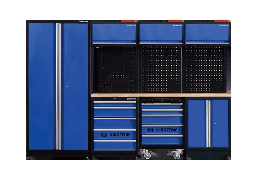 工貝系統櫃(黑藍)  KING TONY  87D21X04A-KB, 永安實業工具購物網