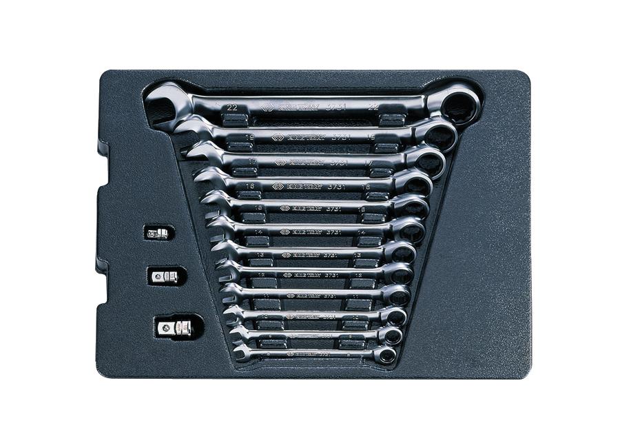 15件式 工具箱(車)用公制單向快速板手組  KING TONY  9-10115MR, 永安實業工具購物網