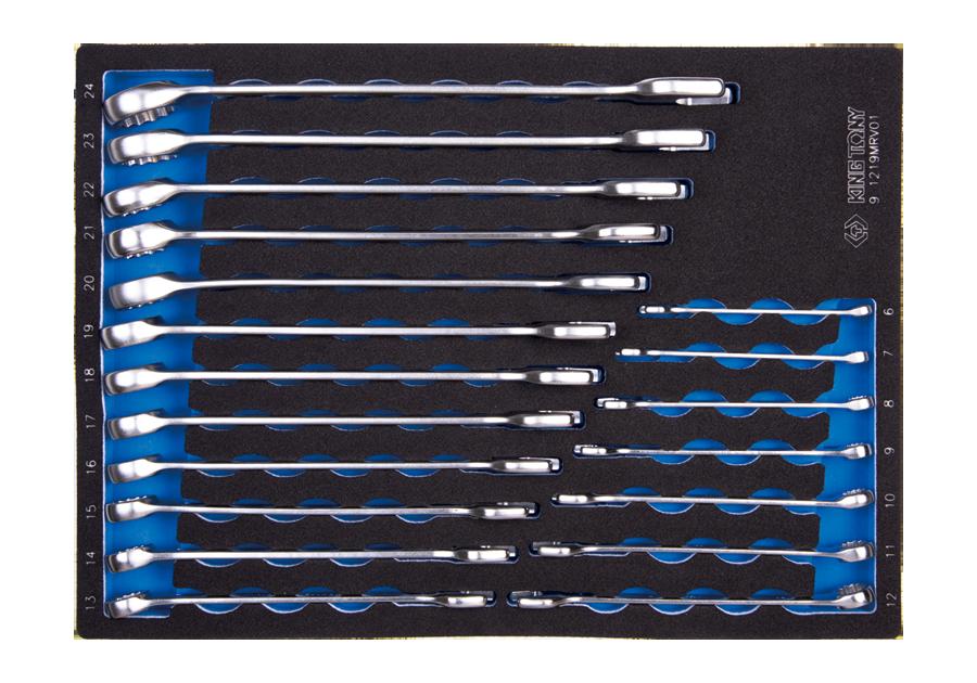 19件式 複合扳手工具車組套(EVA底盤)  KING TONY  9-1219MRV01, 永安實業工具購物網