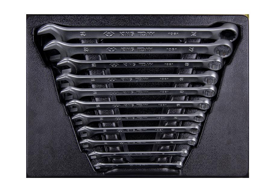 11件式 加長型輕量化複合扳手工具車組套 | KING TONY | 9-12A1MR