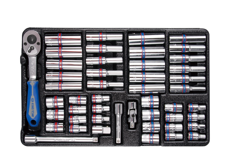 "48件式 1/4""DR. 工具箱組套 | KING TONY | 9-2548CR"