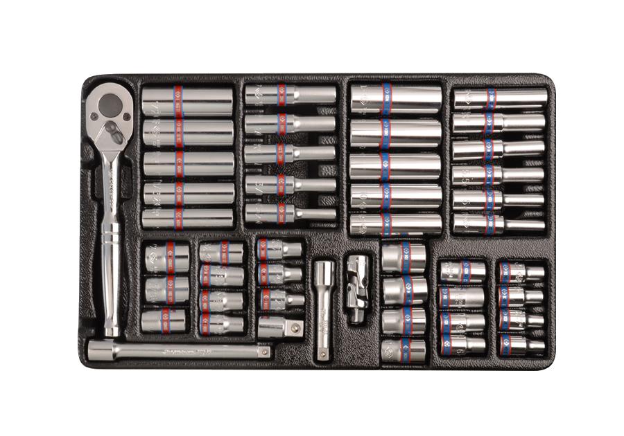 """48件式 1/4""""DR. 工具箱組套  KING TONY  9-2548CR01, 永安實業工具購物網"""