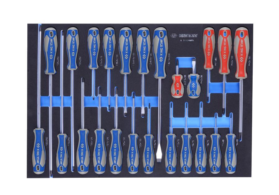 24件式 螺絲起子工具車組套(EVA底盤)  KING TONY  9-31124MRV, 永安實業工具購物網