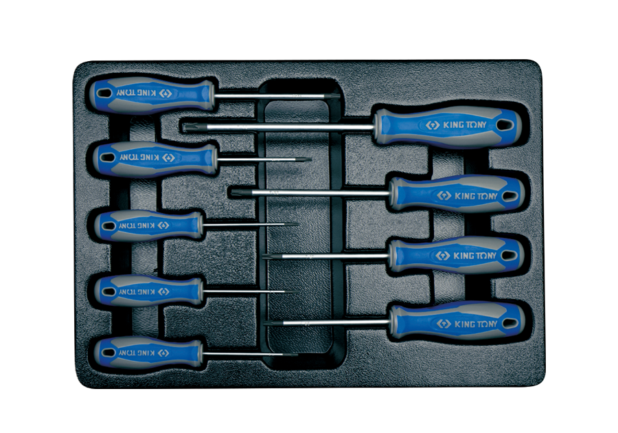 9件式 工具箱(車)用Torx 螺絲起子組  KING TONY  9-31909PR, 永安實業工具購物網
