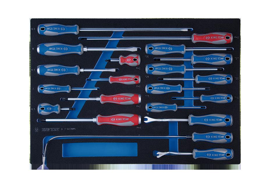 20件式 螺絲起子工具車組套(EVA底盤)  KING TONY  9-31920MRV, 永安實業工具購物網