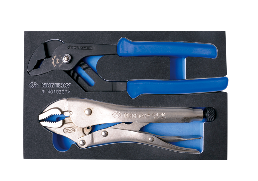 2件式 鉗子工具箱組套(EVA底盤)  KING TONY  9-40102GPV, 永安實業工具購物網