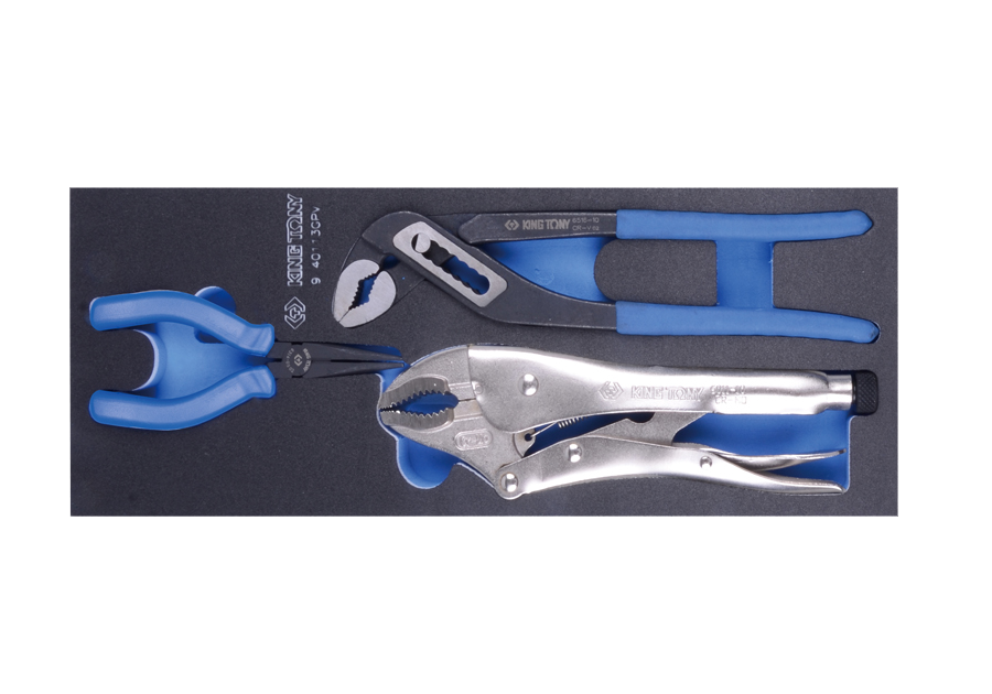 3件式 鉗子工具車組套(EVA底盤)  KING TONY  9-40113GPV, 永安實業工具購物網