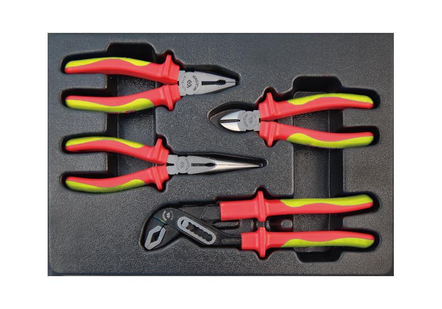 4件式 工具箱(車)用耐電壓鉗子組  KING TONY  9-40604GP, 永安實業工具購物網