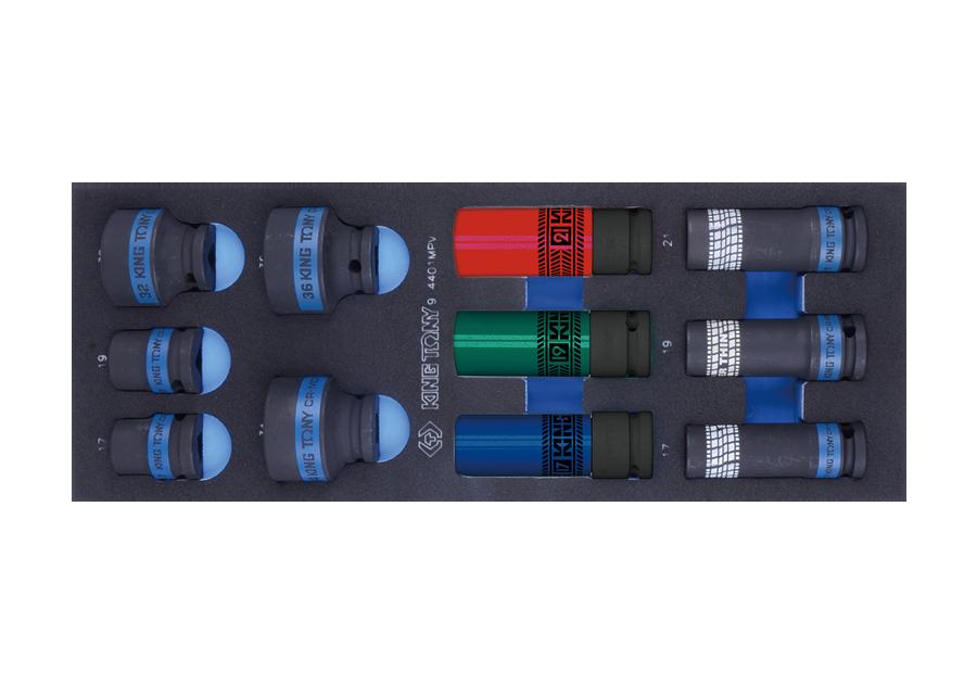 """11件式 1/2""""DR. 氣動套筒工具車組套(EVA底盤)  KING TONY  9-4401MPV, 永安實業工具購物網"""