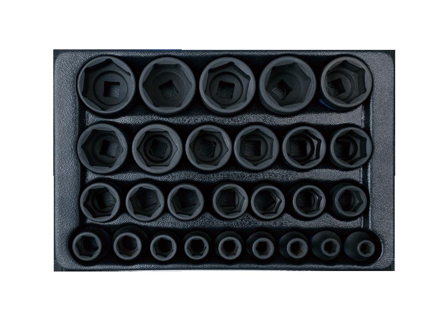 """27件式 1/2""""DR. 六角氣動套筒工具車組套  KING TONY  9-4427MP, 永安實業工具購物網"""