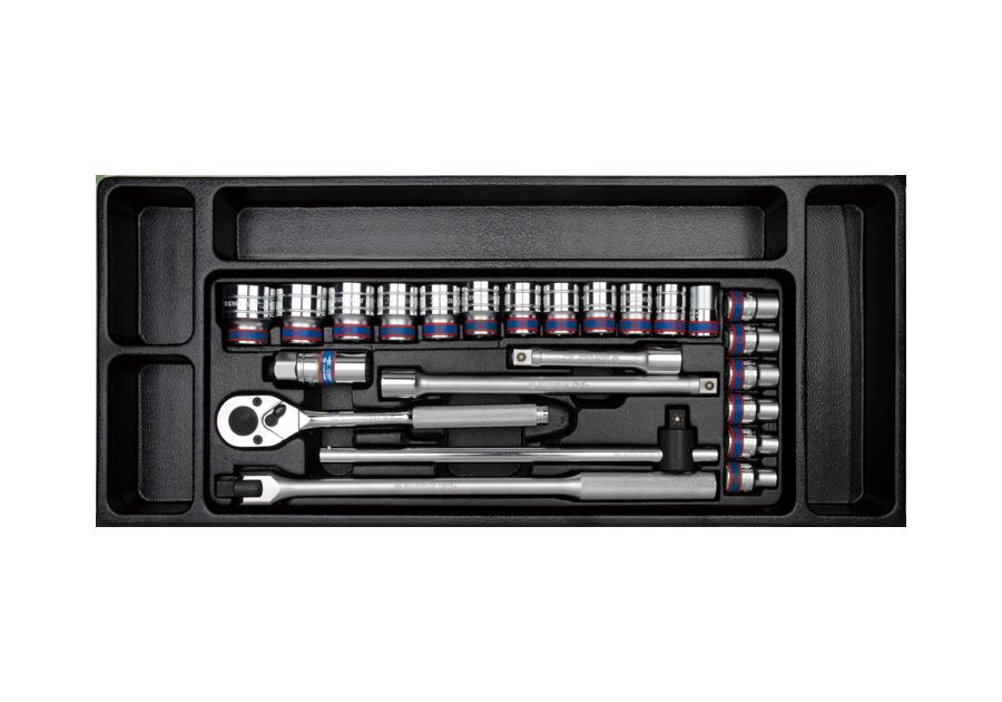 "24件式 1/2""DR. 工具箱組套 | KING TONY | 9-4526MR"