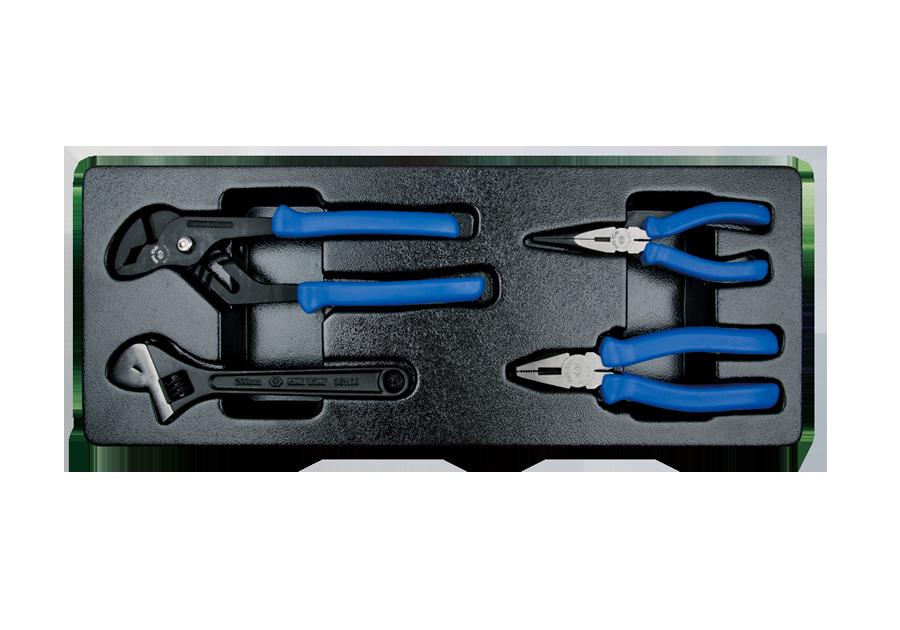 4件式 歐式鉗工具箱組套  KING TONY  9-90104GP, 永安實業工具購物網