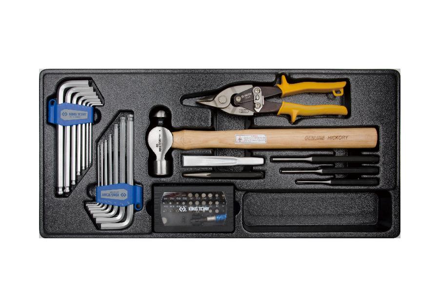 54件式 六角扳手&剪類&Bit&鑿子工具箱組套  KING TONY  9-90154CR, 永安實業工具購物網