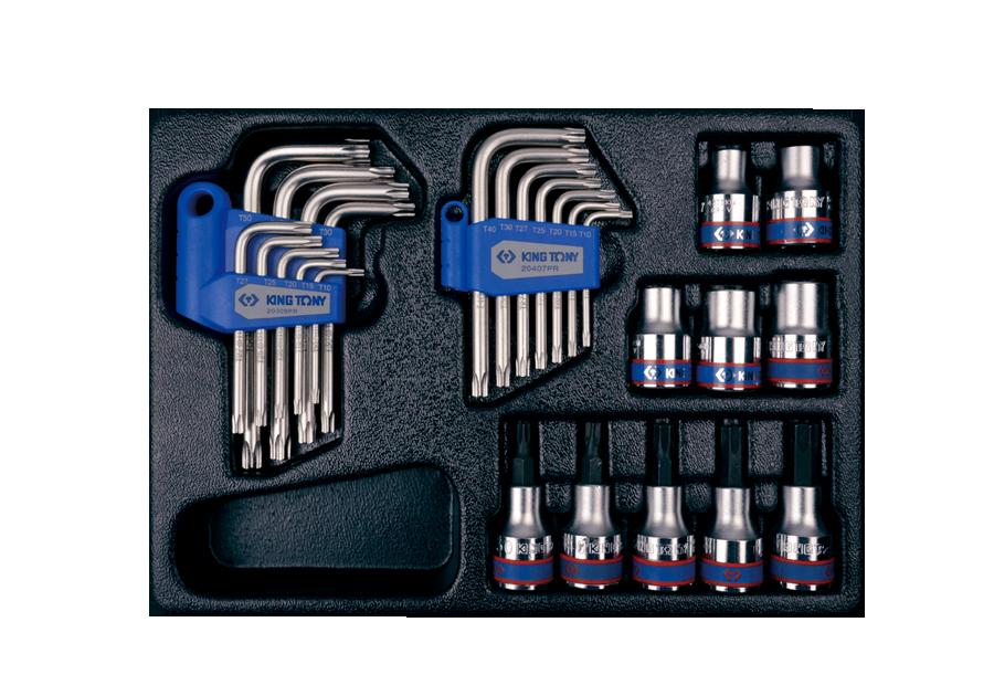 """26件式 1/2""""DR. Bit套筒&套筒&六角星型扳手工具箱組套  KING TONY  9-91026PR, 永安實業工具購物網"""