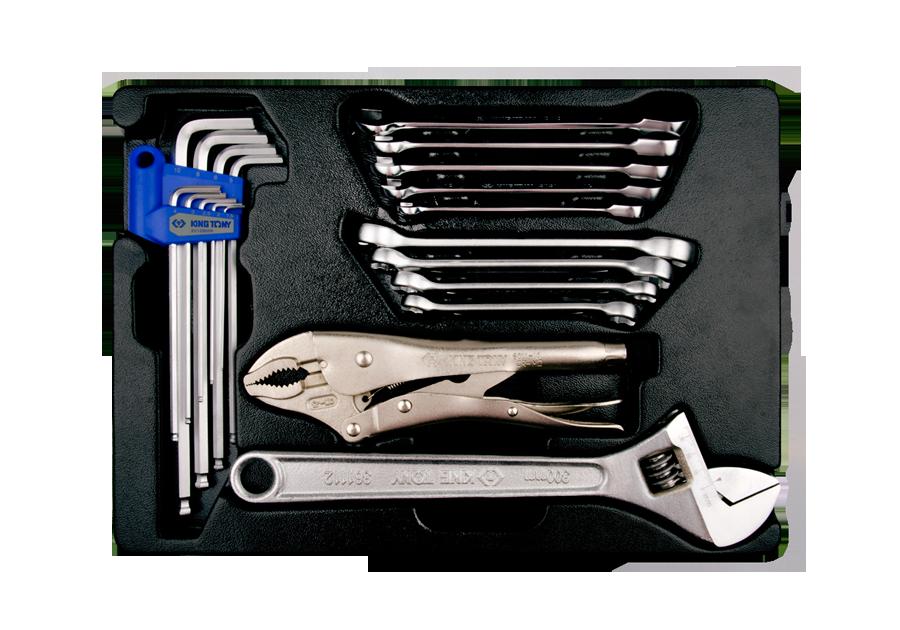20件式 工具箱(車)用公制板手與鉗子組  KING TONY  9-91120MR, 永安實業工具購物網
