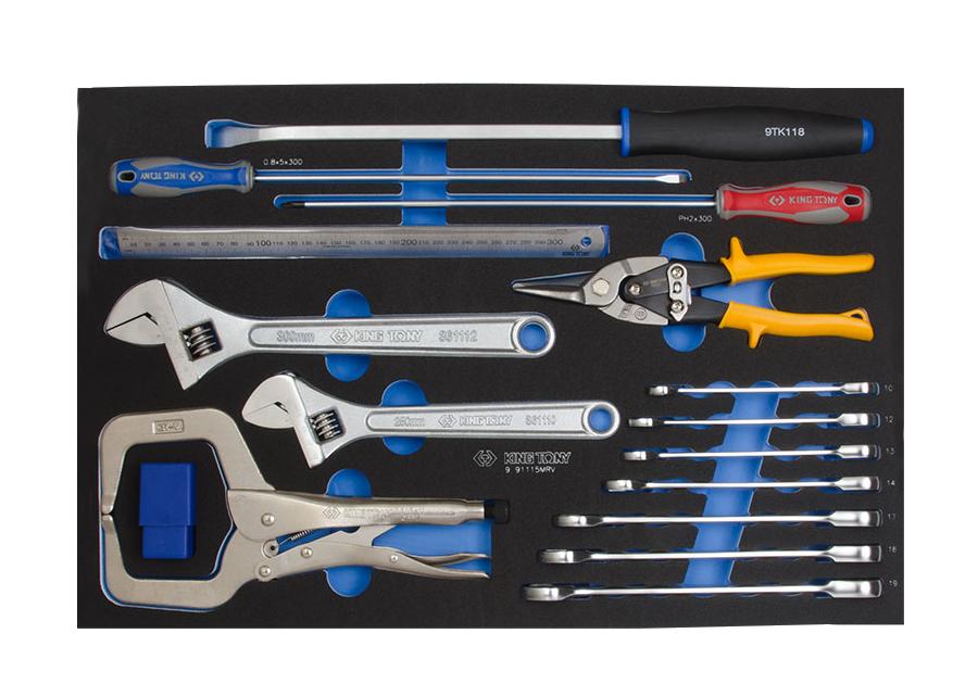 24件式 複合扳手工具車組套(EVA底盤)  KING TONY  9-91124MRV, 永安實業工具購物網