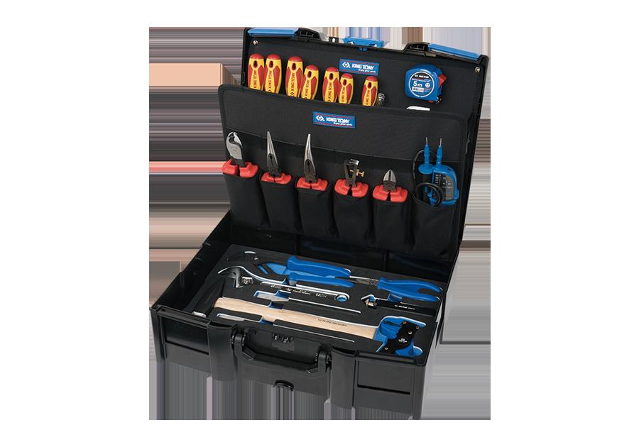 37件式 耐電壓堆疊工具箱組 | KING TONY | 9052-001MRV