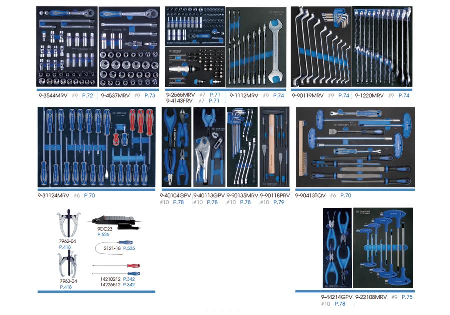 325件式 工具車組(EVA底盤)  KING TONY  934-011MRV-G, 永安實業工具購物網