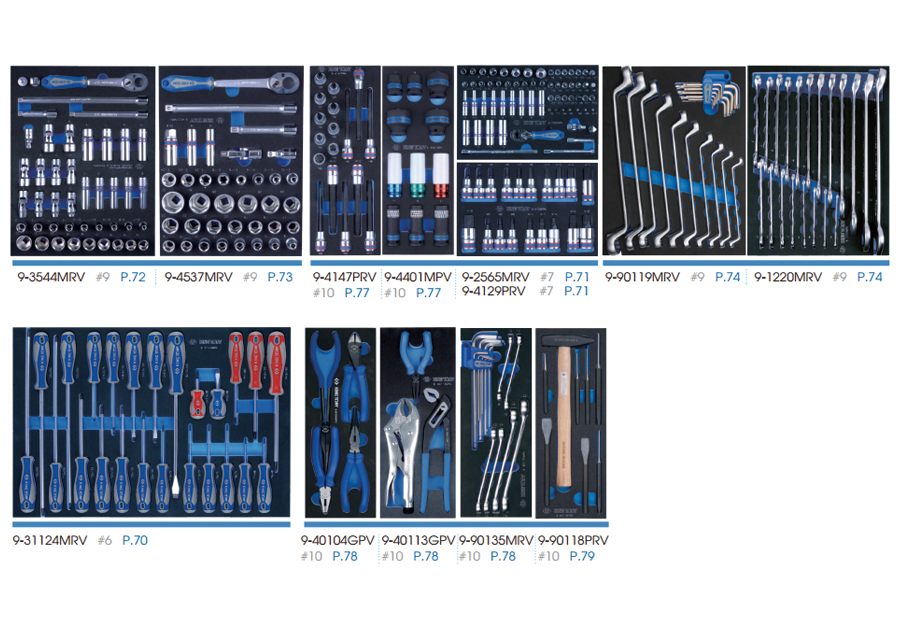 286件式 工具車組(EVA底盤)  KING TONY  9634-010MRV-G, 永安實業工具購物網