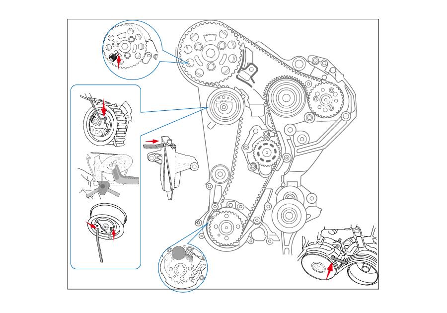 Diesel Engine Setting / Locking Tool Set - Pumpe Düse (VOLKSWAGEN  GROUP)-KING TONY-9AT2012EKING TONY