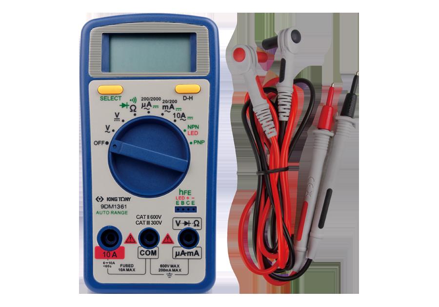 數位式三用電表  KING TONY  9DM1361, 永安實業工具購物網