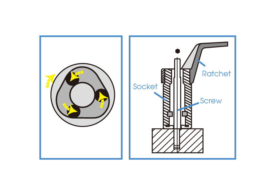 "1/2""DR. Roller Stud Extractor Socket"