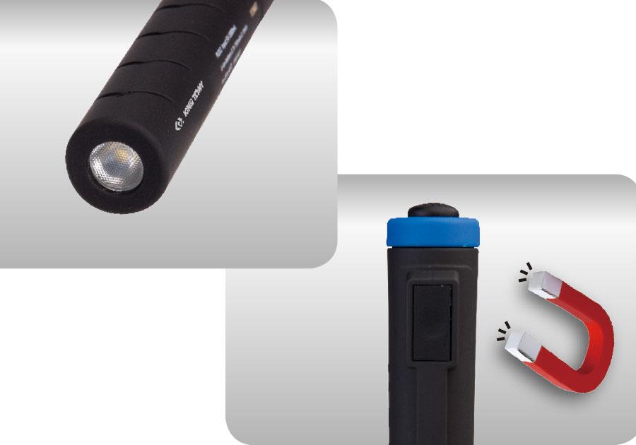 小型充電式感應頭燈+充電式LED筆燈  KING TONY  P9TA5002, 永安實業工具購物網