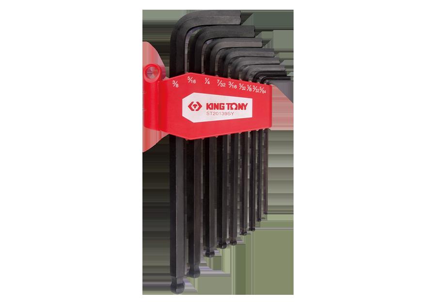 9件式 長型球頭六角扳手組  KING TONY  ST20139SY, 永安實業工具購物網